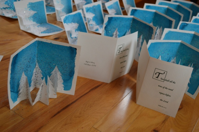 Homemade cards in production