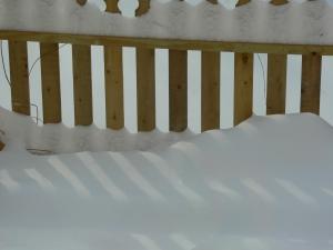 Snow fence, photo by Roger Vincent Jasaitis, Copyright 2014, RVJart.com