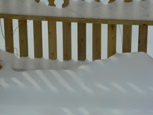 Snow fence, photo by Roger Vincent Jasaitis, Copyright 2014, RVJart.com
