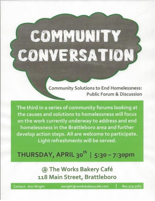 Homelessness-Community Conversation 042315