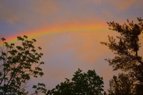 Sunset Rainbow, photo by Roger Vincent Jasaitis, RVJart.com, Copyright 2015