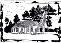 Putney Friends Meetinghouse drawing