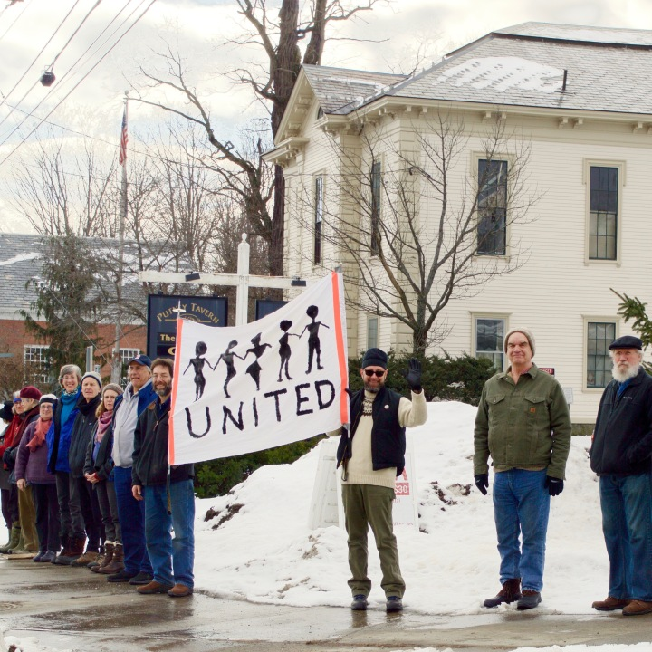 Rally- January 21st, 2017, Putney, Vermont, photo by Nancy Jane Lang