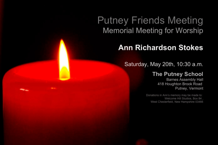 Ann Stokes Memorial Meeting