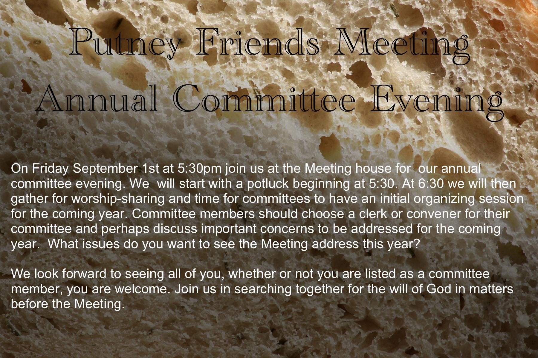 PFM Committee Evening