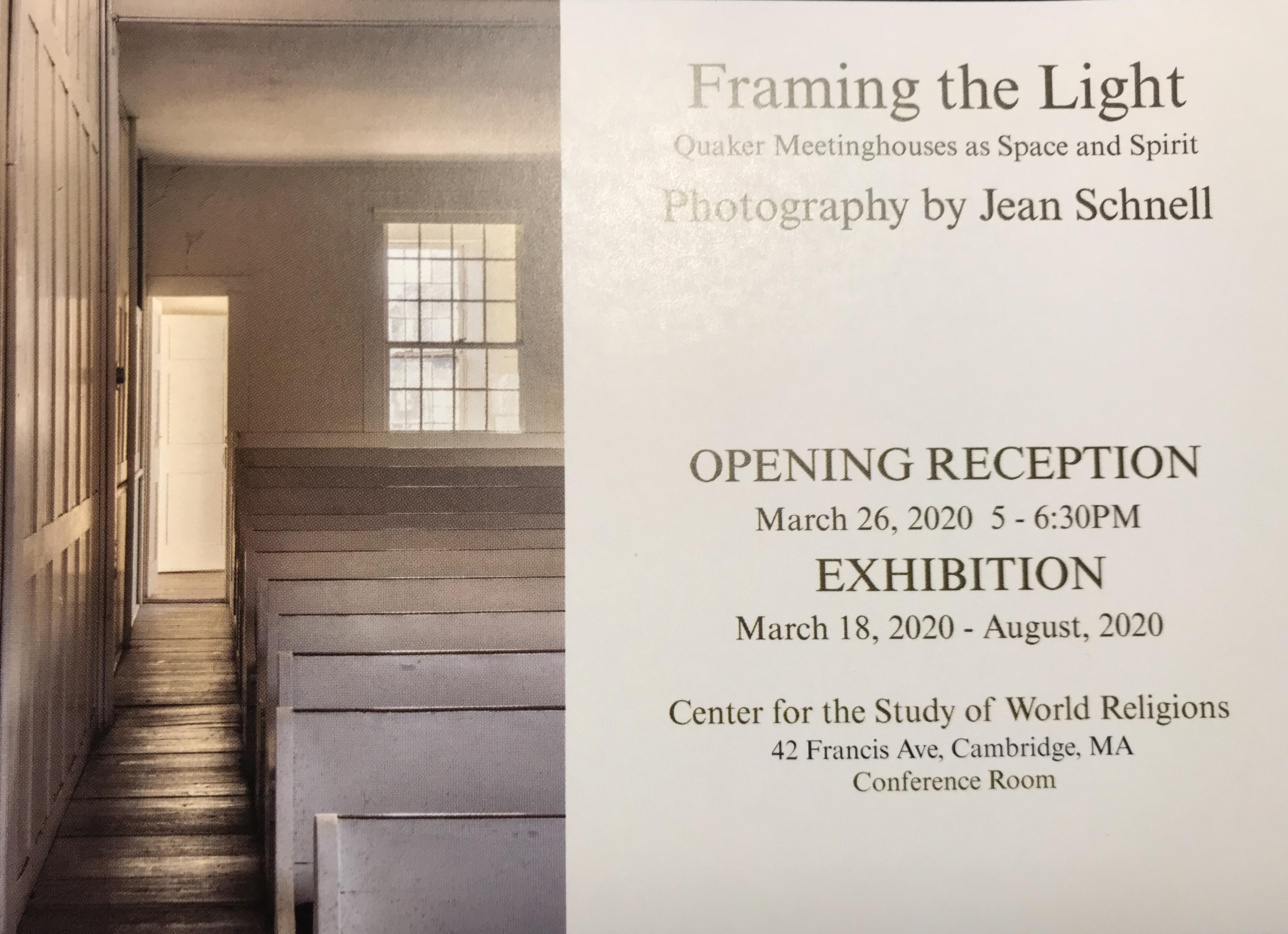 Jean Schnell, Exhibition invitation